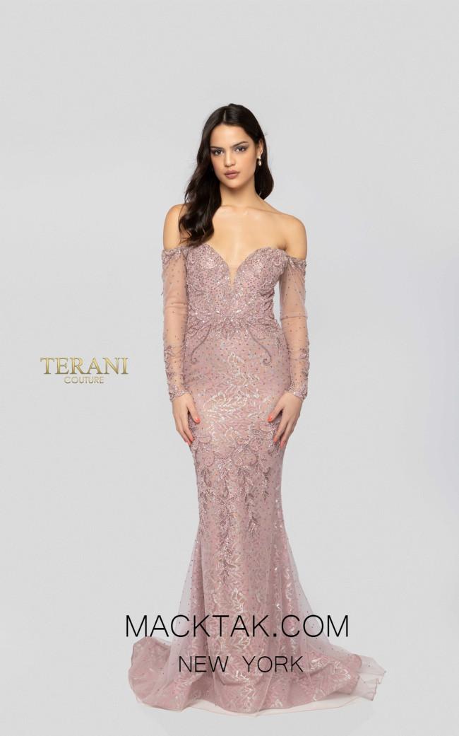 Terani 1913GL9587 Blush Nude Front Pageant Dress
