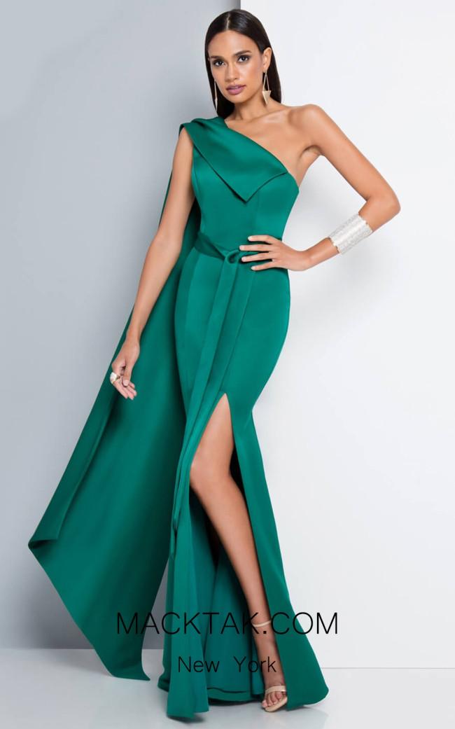 Terani 1812E6296X Emerald Front Dress