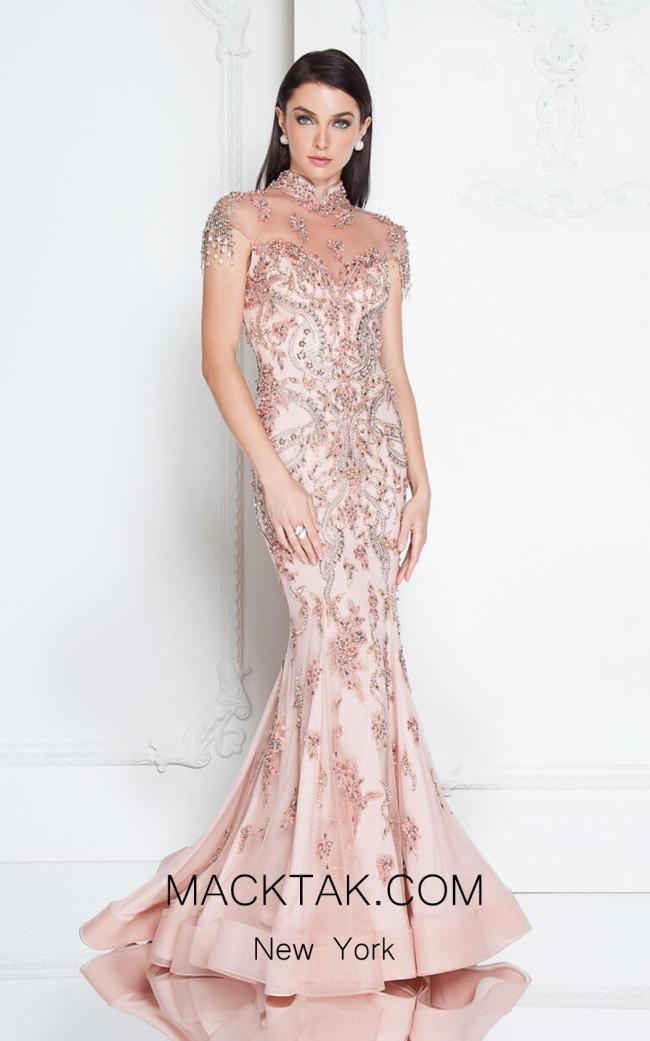 Terani 1812GL6493 Dusty Rose Front Dress