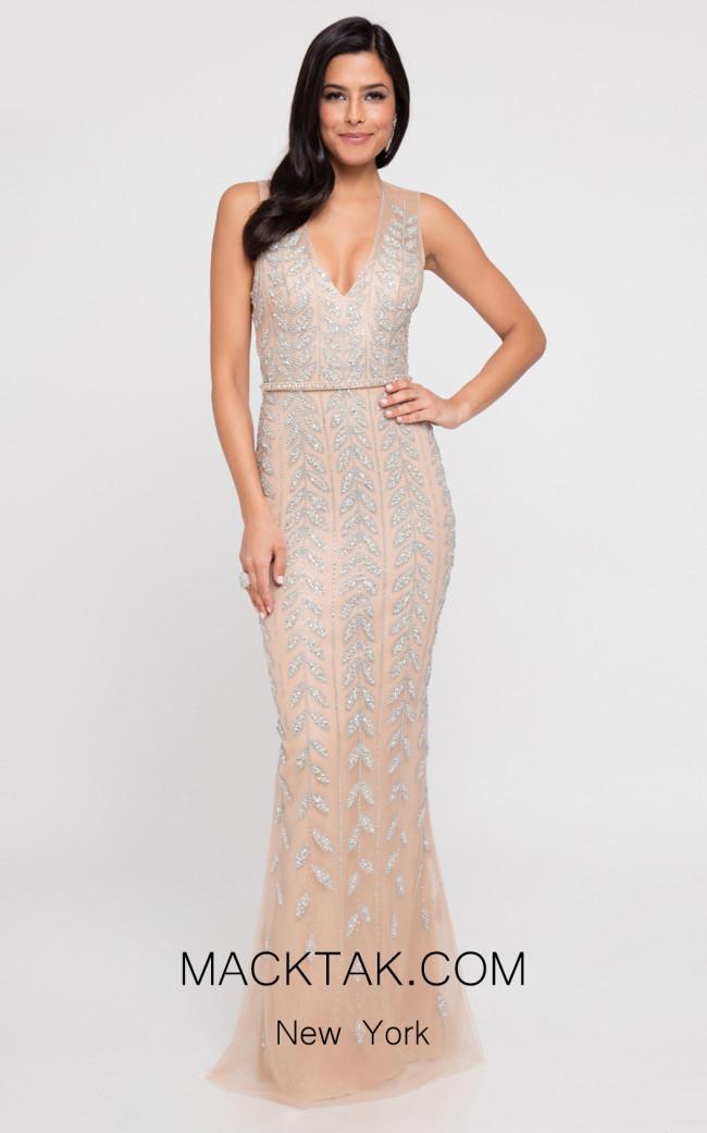 Terani 1812GL6504 Nude Front Dress