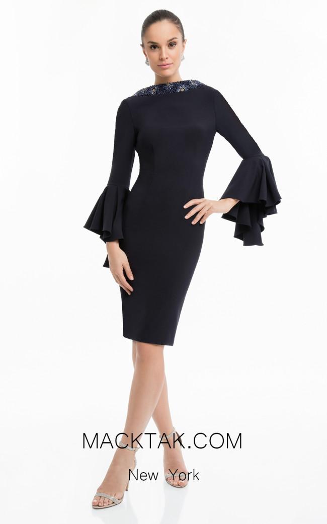 Terani 1821C7005 Black Front Dress