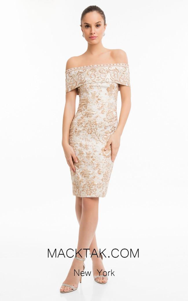 Terani 1821C7031 Rose Gold Front Dress