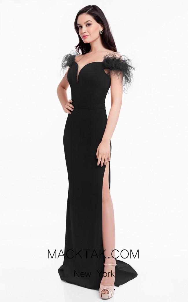 Terani 1821E7103 Black Front Dress
