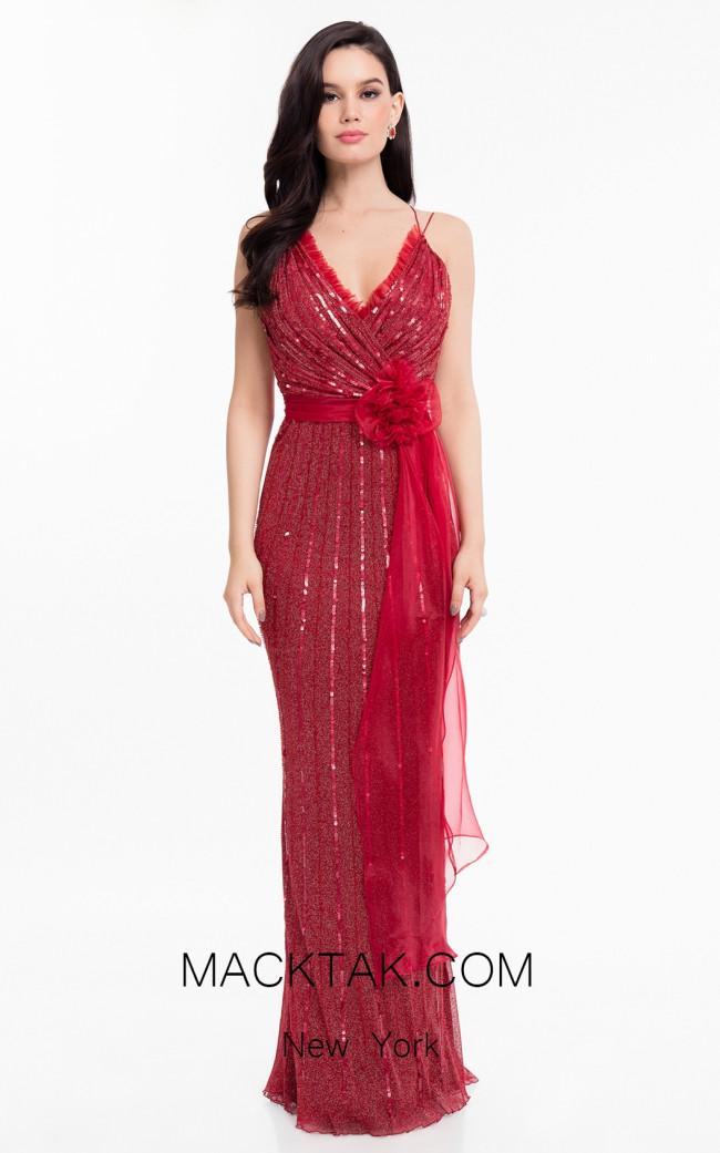 Terani 1821E7111 Berry Front Dress