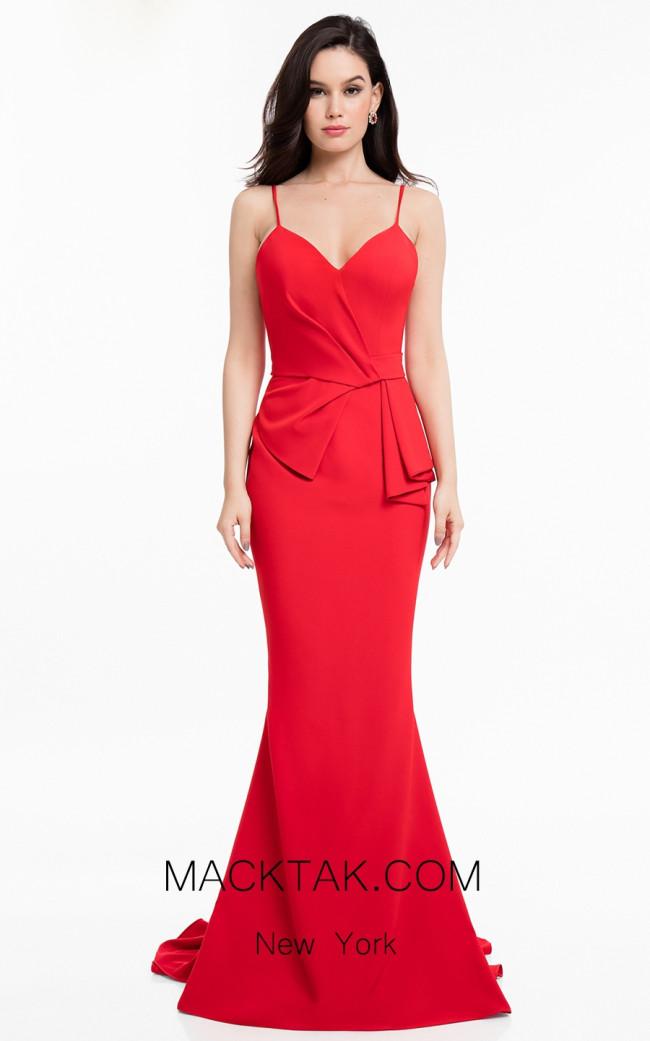 Terani 1821E7166 Red Front Dress