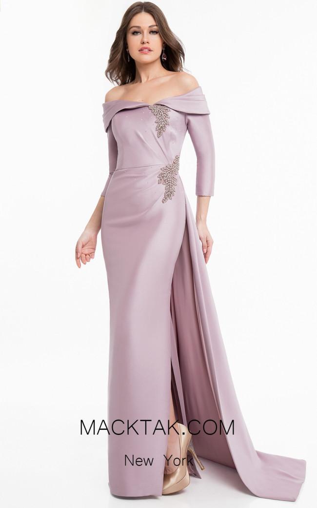 Terani 1821M7550 Mauve Front Dress