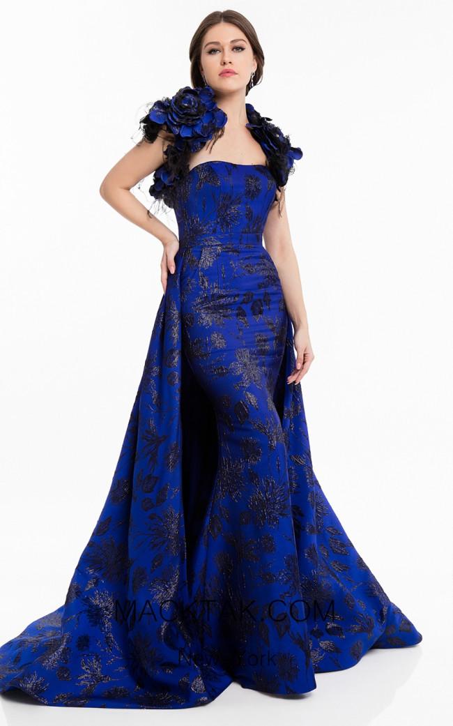 Terani 1822E7265 Royal Blue Front Dress