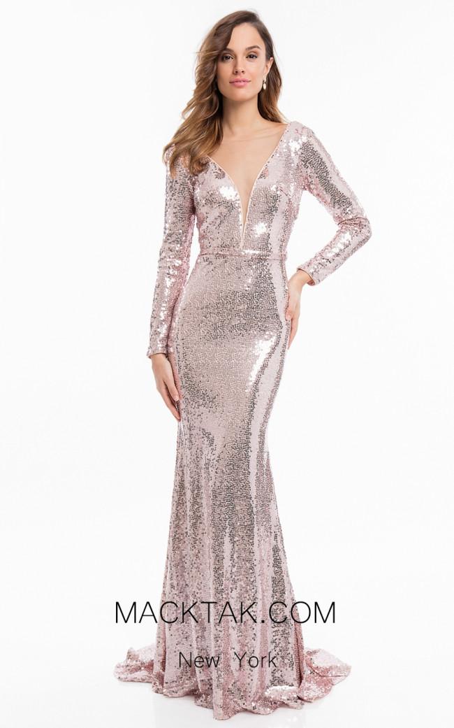 Terani 1822E7322 Blush Front Dress