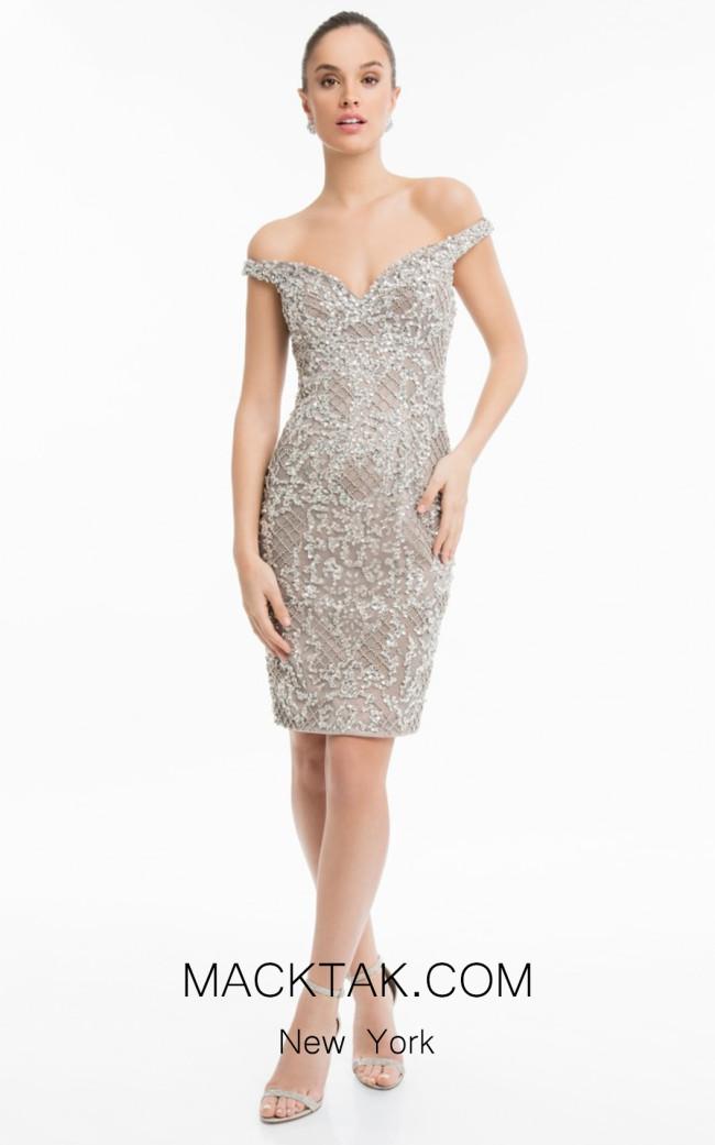 Terani 1821C7039 Silver Front Dress
