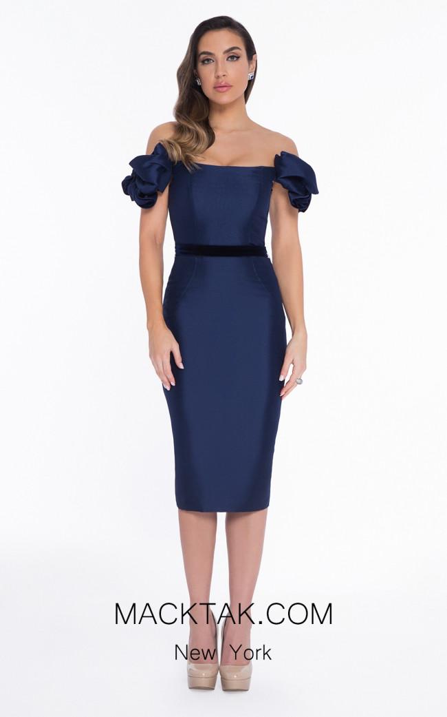 Terani 1821C7941 Navy Front Dress