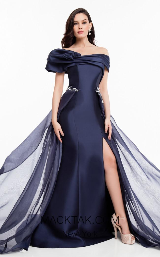 Terani 1821E7100 Navy Front Dress