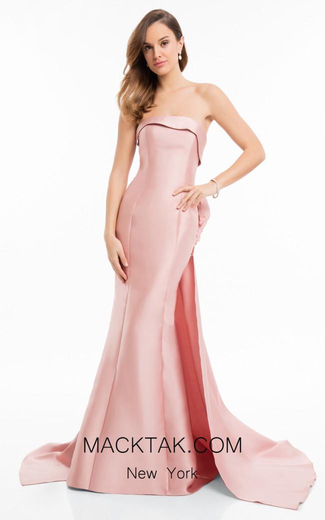 Terani 1821E7121 Rose Front Evening Dress