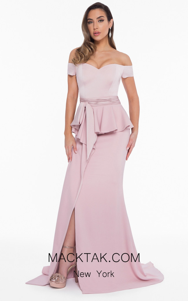 Terani 1821E7126 Blush Front Evening Dress