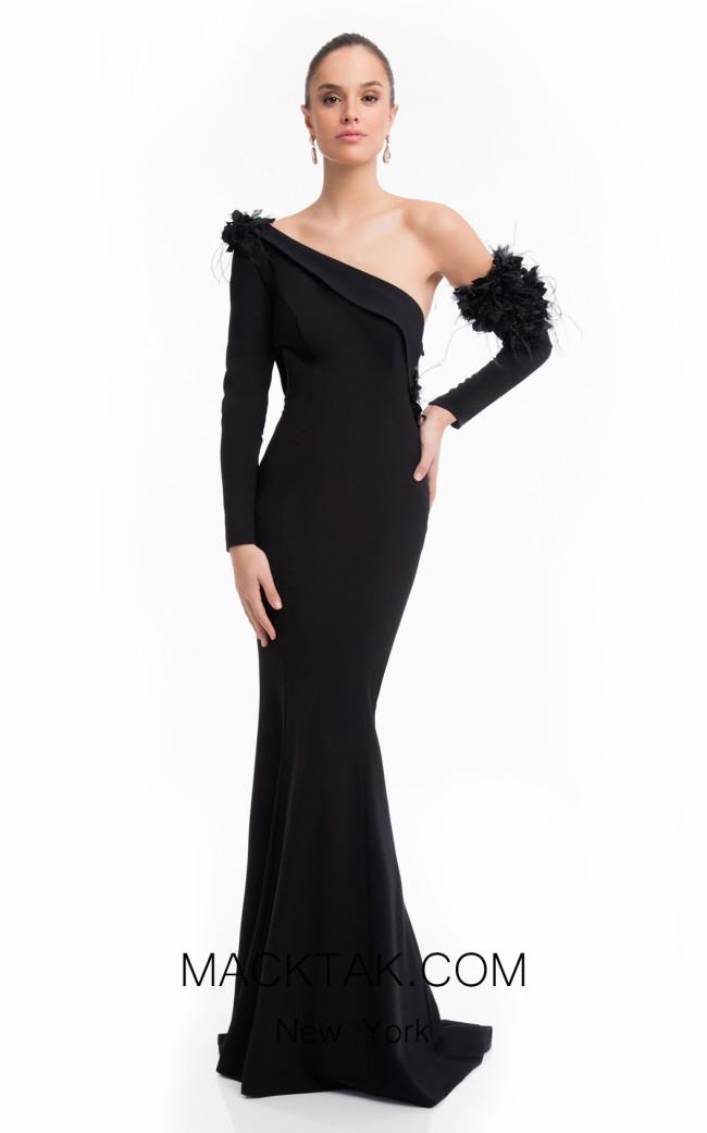 Terani 1821E7133 Black Front Dress