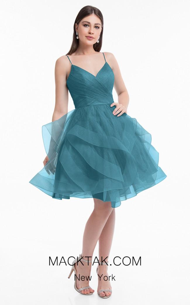 Terani 1821H7770 Teal Front Dress
