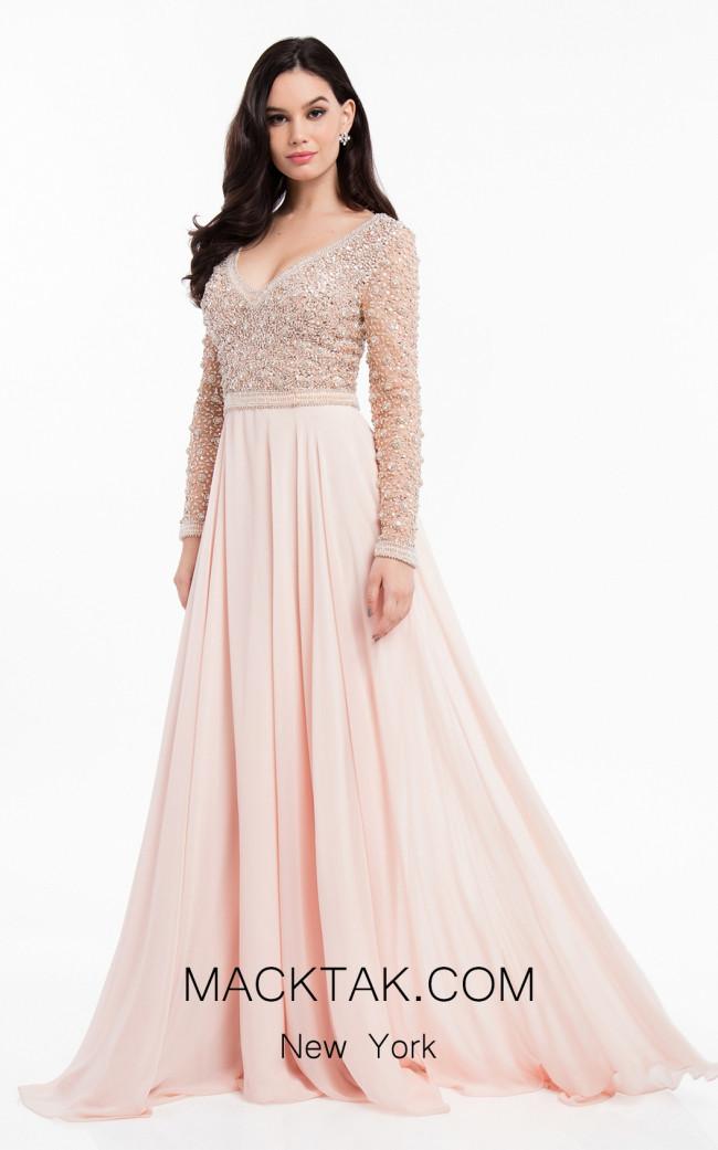 Terani 1821M7590 Blush Front Evening Dress