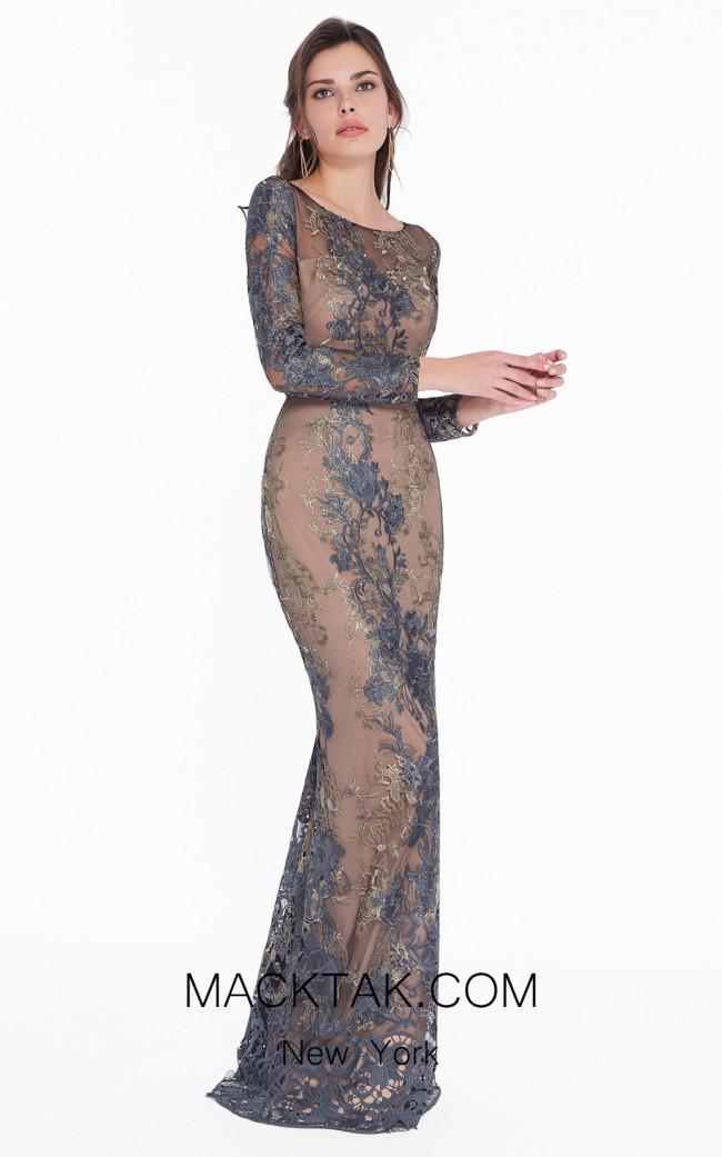 Terani 1822E7292 Gunmetal Gold Dress