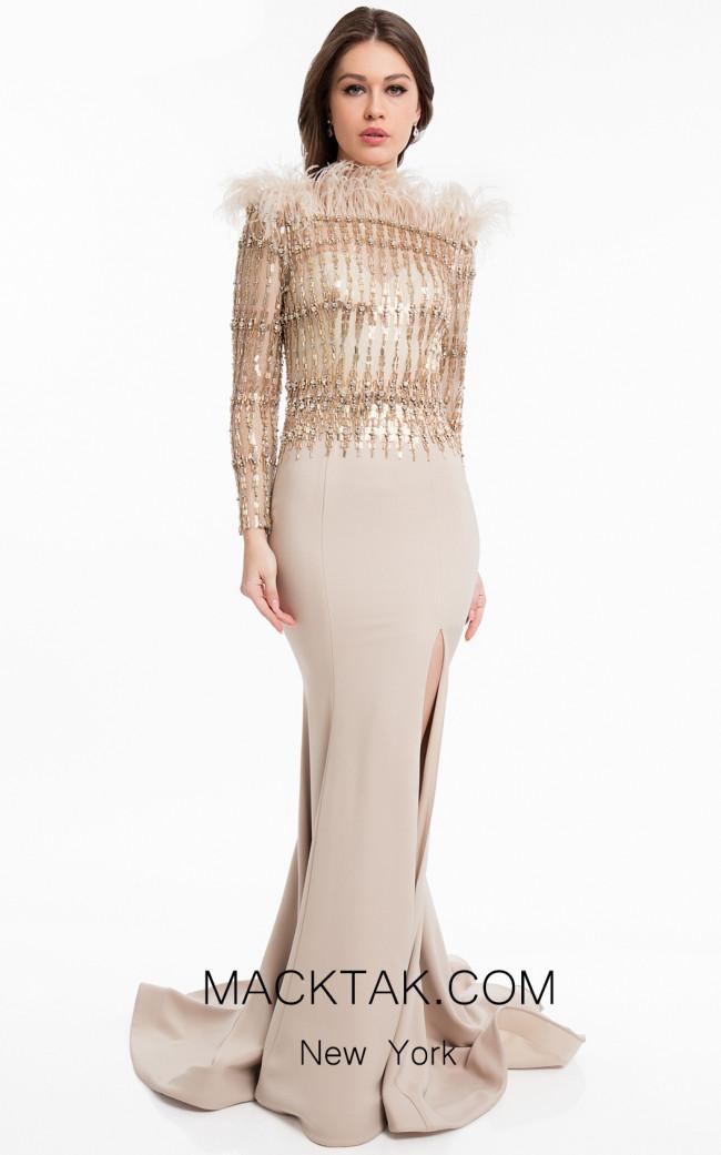 Terani 1823M7732 Chapagne Front Dress