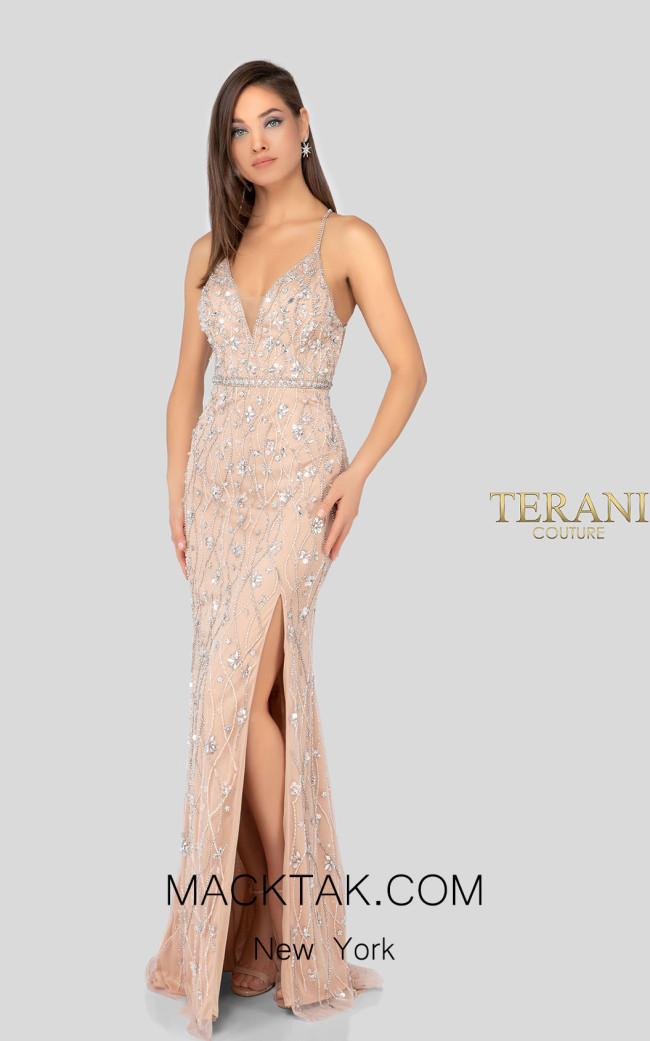 Terani 1911P8212 Blush Nude Front Dress