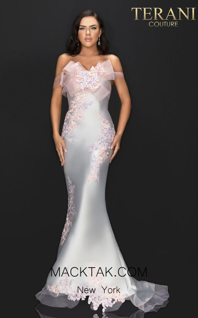 Terani 2011E2093 Silver Blush Front Dress