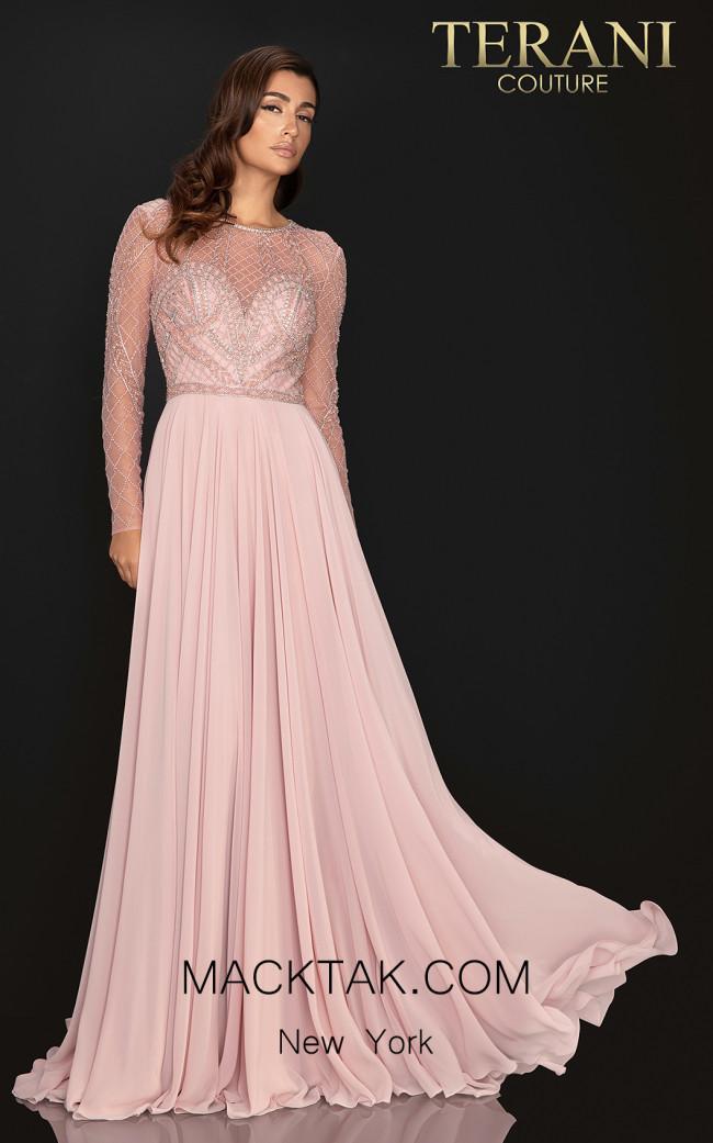 Terani 2011M2164 Rose Front Dress