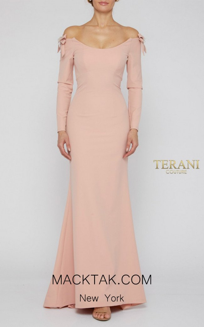 Terani Couture 1921E0117 Pink Front Evening Dress