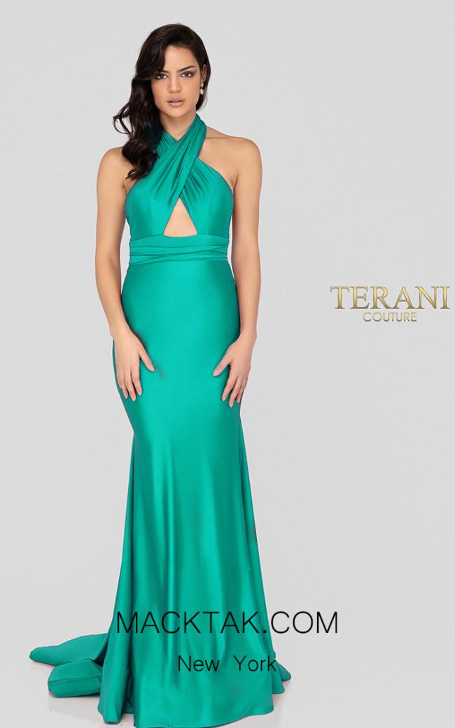 Terani Couture 1912P8284 Emerald Front Dress