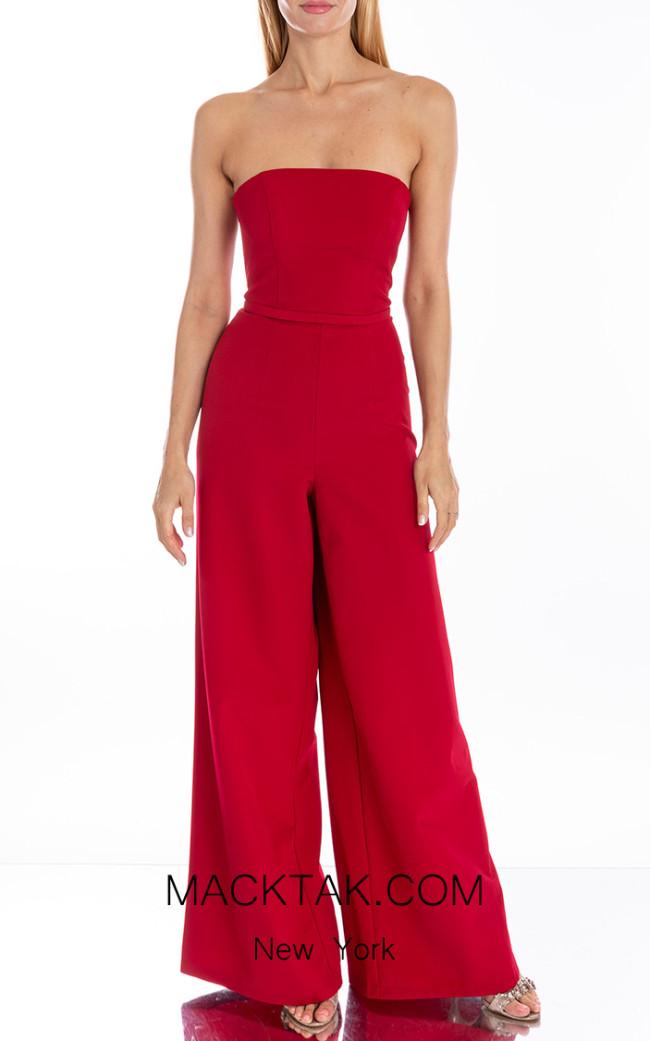 Terani Couture 1912P8288 Carmine Front Dress