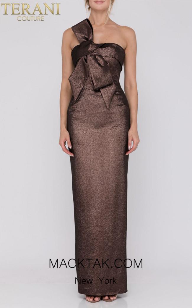 Terani Couture 1921E0104 Bronze Front Dress