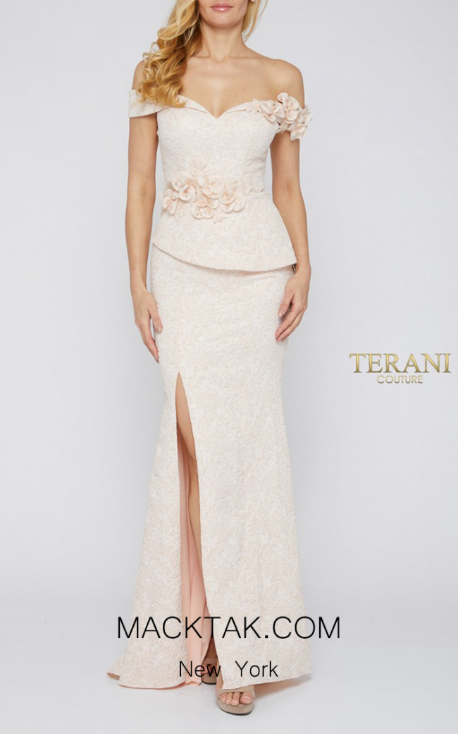 Terani Couture 1921E0146 Blush Front Dress