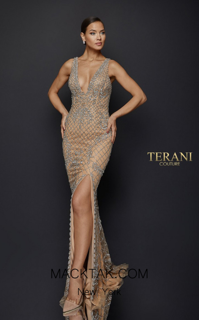 Terani Couture 1921GL0609 Front Dress