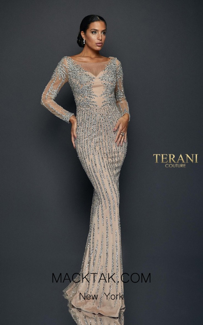 Terani Couture 1921GL0612 Front Dress