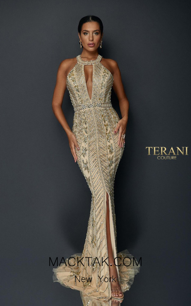 Terani Couture 1921GL0626 Front Dress