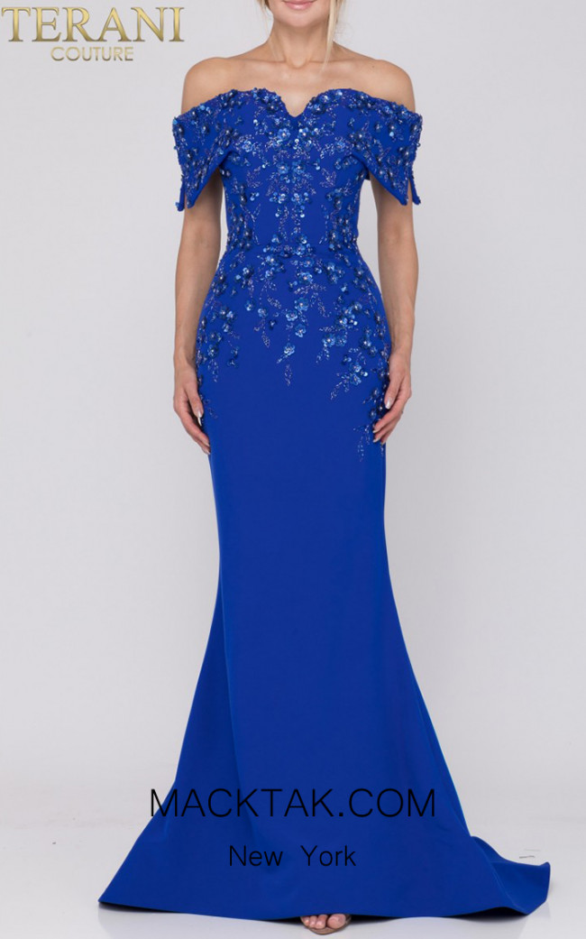 Terani Couture 1921M0472 Royal Front Dress