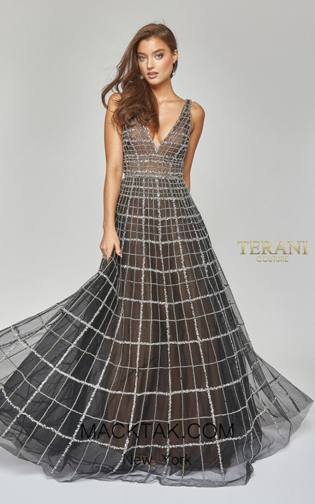 Terani Couture 1922GL0663 Front Dress