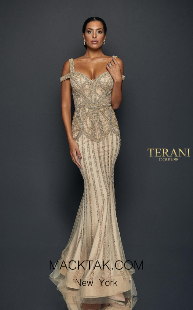 Terani Couture 1922GL0680 Front Dress