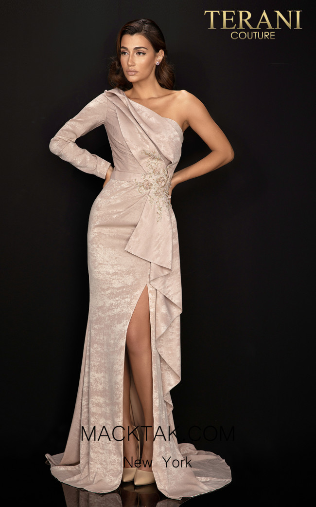 Terani 2011E2038 Mocha Front Dress