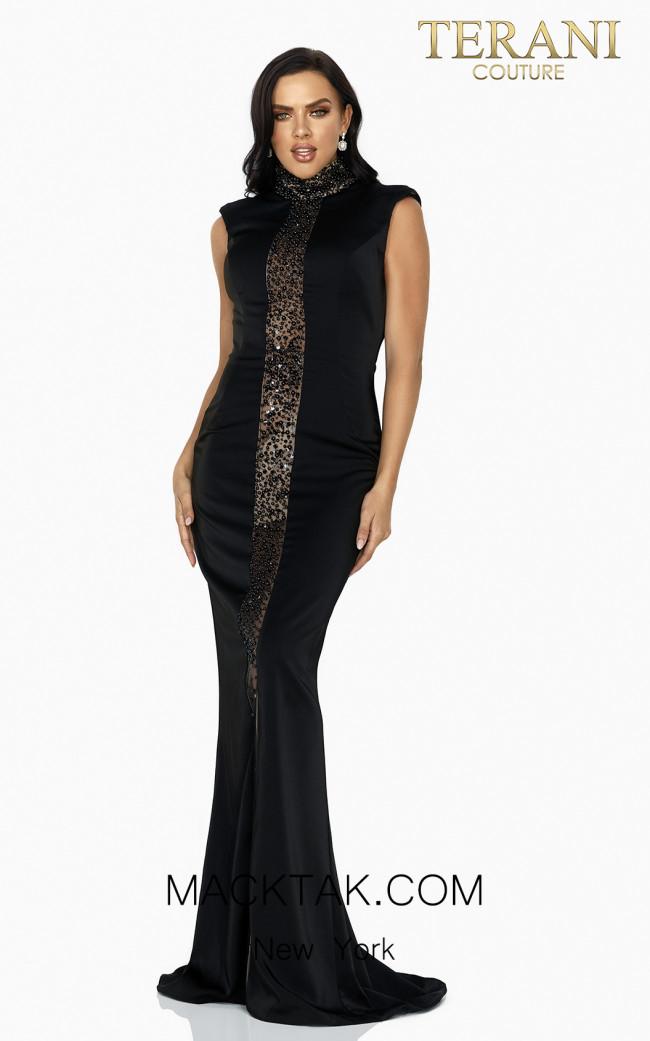 Terani 2011E2046 Black Front Dress