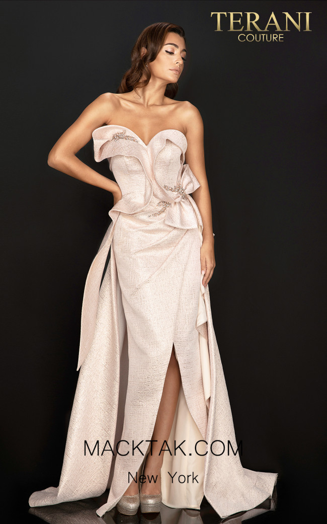 Terani 2011E2073 Rose Gold Front Dress