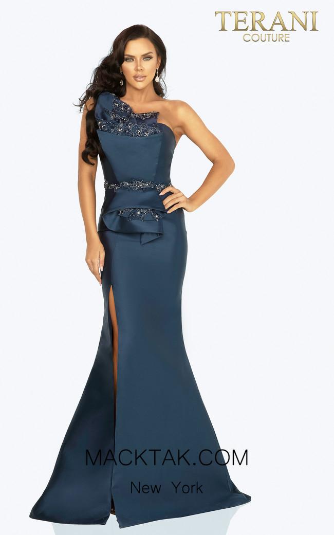 Terani Couture 2011E2103 Navy Front Dress