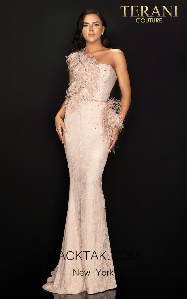 Terani 2011E2112 Blush Front Dress