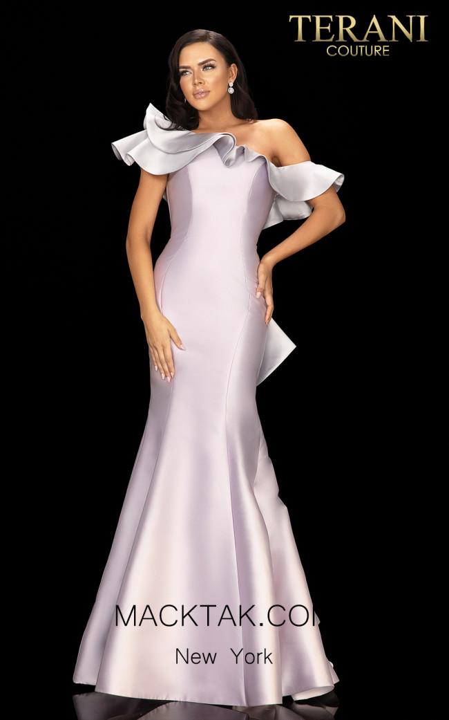 Terani 2011E2428 Orchid Silver Front Dress