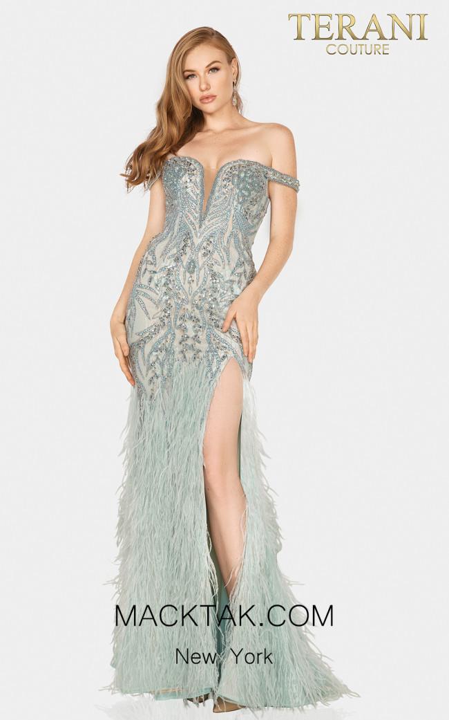 Terani 2011GL2181 Ice Blue Front Dress