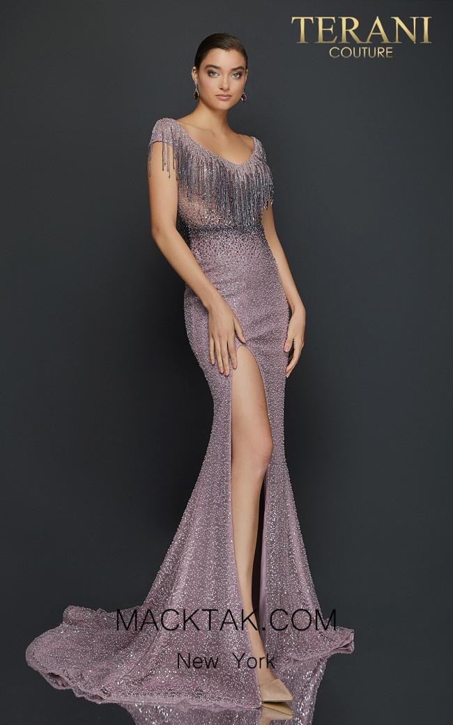Terani 2011GL2214 Blush Mauve Front Dress