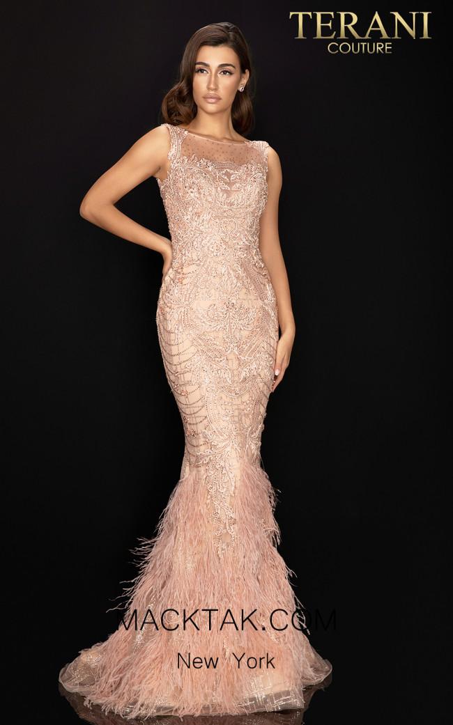 Terani 2011GL2415 Mocha Front Dress