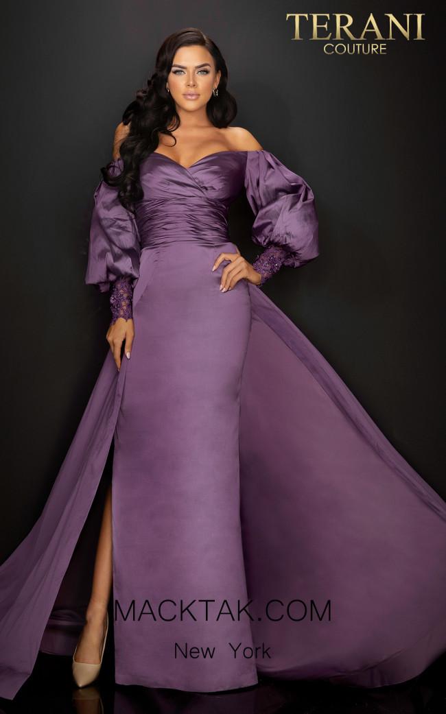 Terani 2011M2122 Wisteria Front Dress