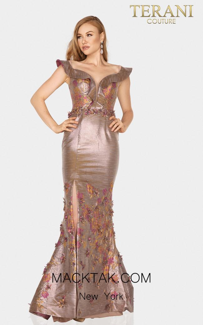 Terani 2011M2129 Amber Rose Front Dress