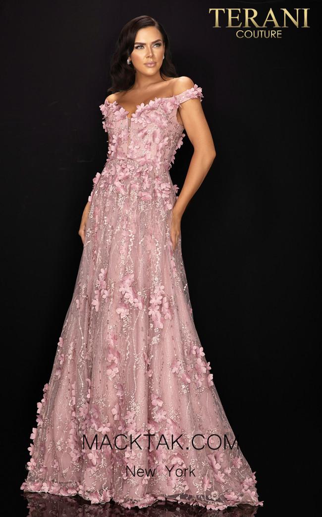 Terani 2011M2143 Rose Front Dress