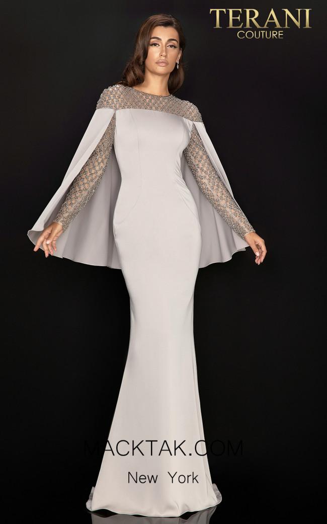 Terani 2011M2155 Putty Front Dress