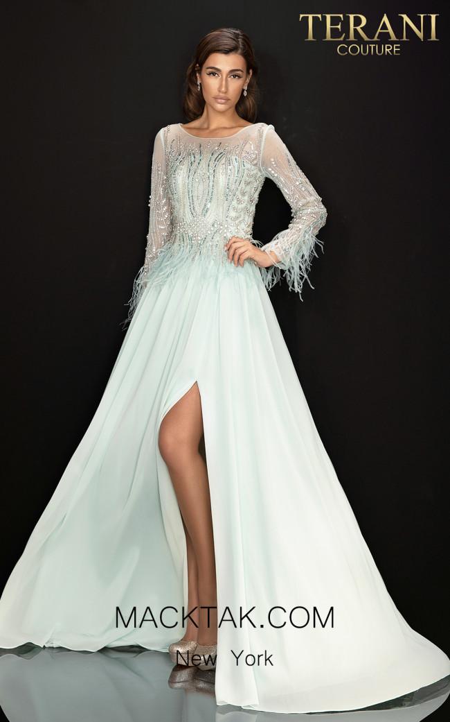 Terani 2011M2163 Mint Front Dress